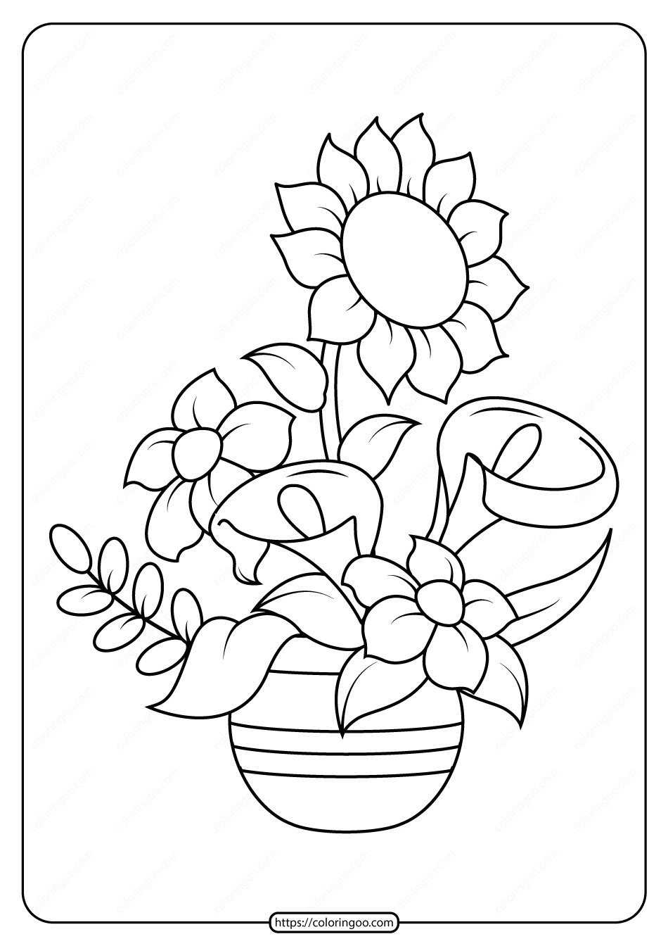 Free Printable Flowers Pdf Coloring Pages 13