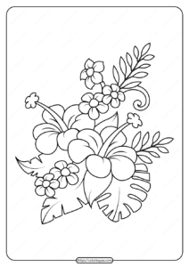Free Printable Flowers Pdf Coloring Pages 14