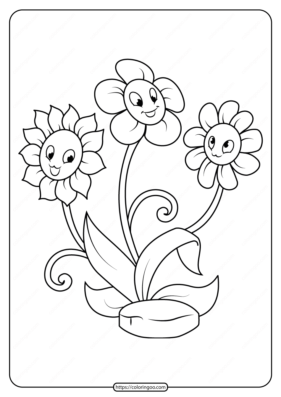 Free Printable Flowers Pdf Coloring Pages 15
