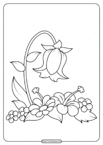 Free Printable Flowers Pdf Coloring Pages 17