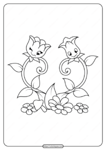 Free Printable Flowers Pdf Coloring Pages 18
