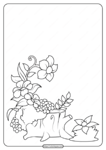 Free Printable Flowers Pdf Coloring Pages 19