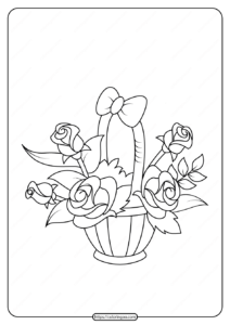 Free Printable Flowers Pdf Coloring Pages 20