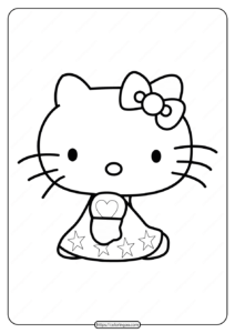 Free Printable Hello Kitty Coloring Page