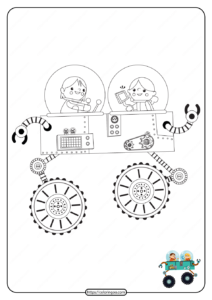 Printable Interesting Spacecraft Pdf Coloring Page