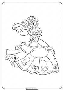 Free Printable Princess Pdf Coloring Pages 01