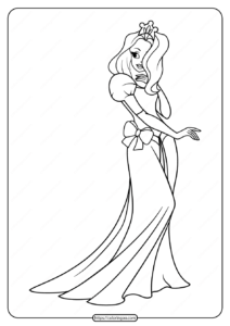 Free Printable Princess Pdf Coloring Pages 02