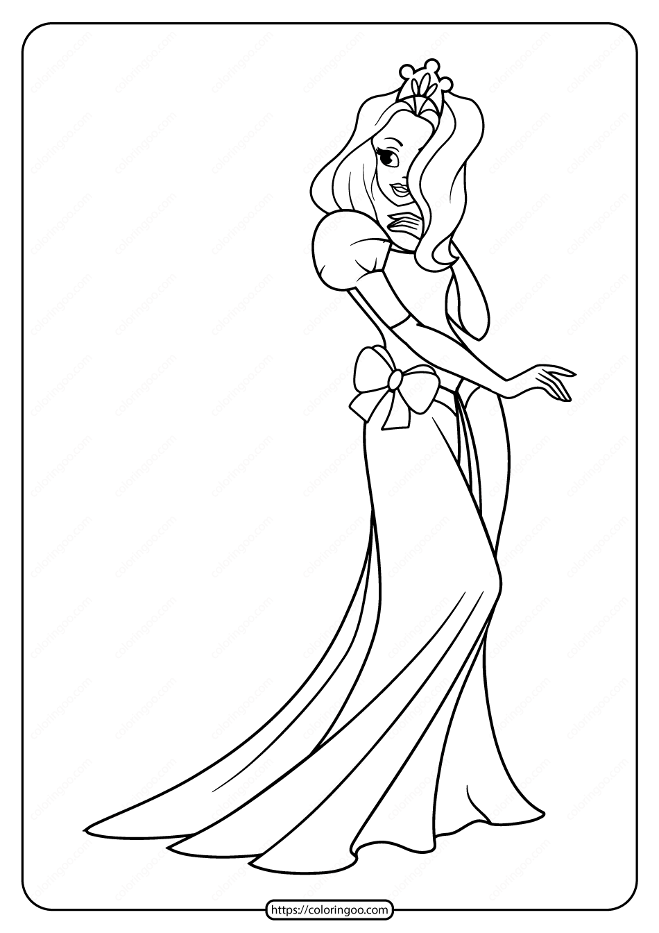 Free Printable Princess Pdf Coloring Pages 02