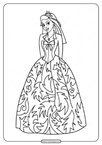 Free Printable Princess Pdf Coloring Pages 03