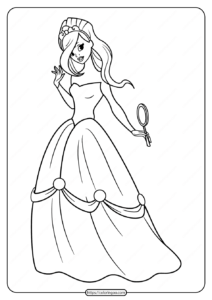 Free Printable Princess Pdf Coloring Pages 05