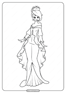 Free Printable Princess Pdf Coloring Pages 07