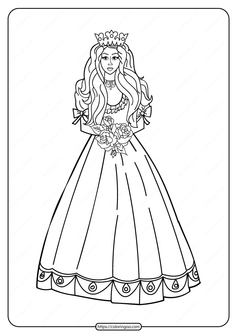 Free Printable Princess Pdf Coloring Pages 08