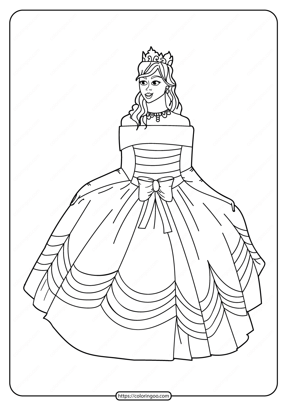 Free Printable Princess Pdf Coloring Pages 09