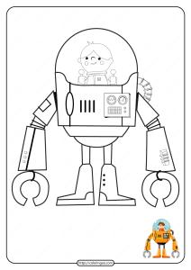 Free Printable Robot Pdf Coloring Page