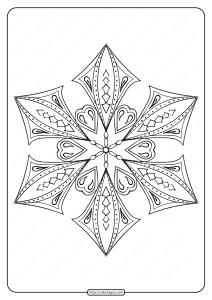 Free Printable Snowflake Pdf Coloring Page 03
