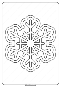 Free Printable Snowflake Pdf Coloring Pages