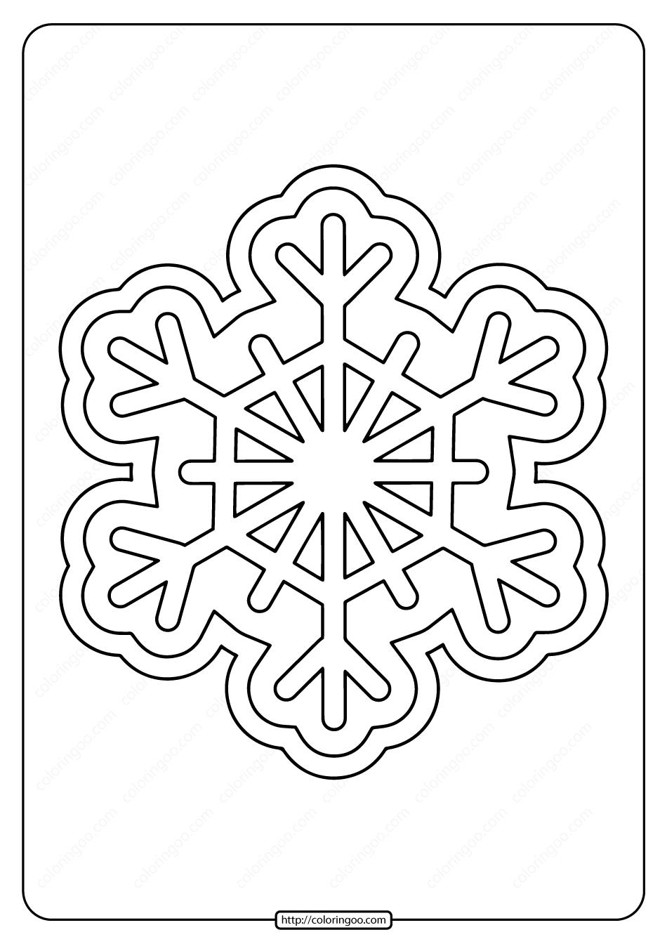 Free Printable Snowflake Pdf Coloring Pages