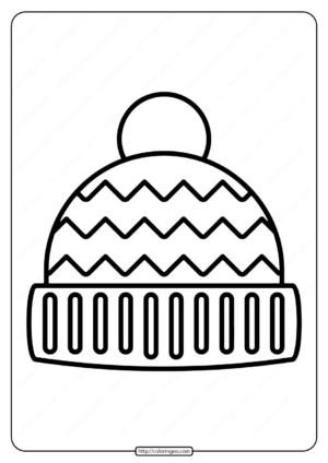 Free Printable Winter Hat Pdf Coloring Page