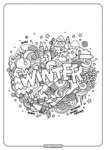 Free Printable Winter Pdf Coloring Page