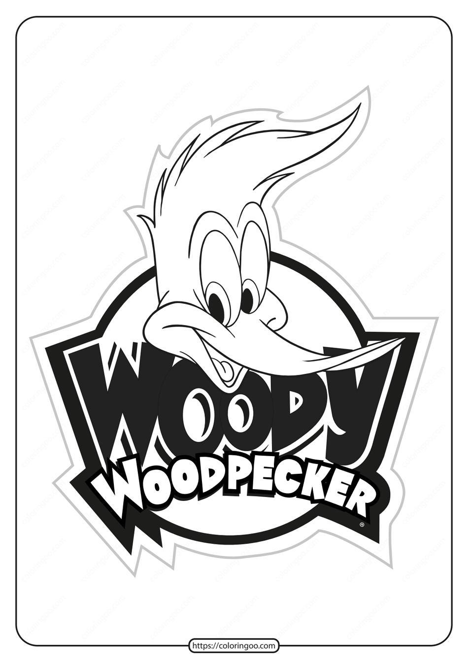 Free Printable Woody Woodpecker Coloring Pages 02