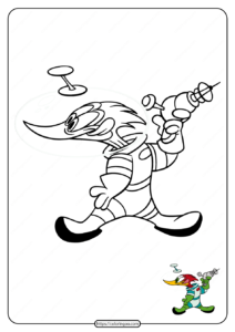 Free Printable Woody Woodpecker Coloring Pages 05