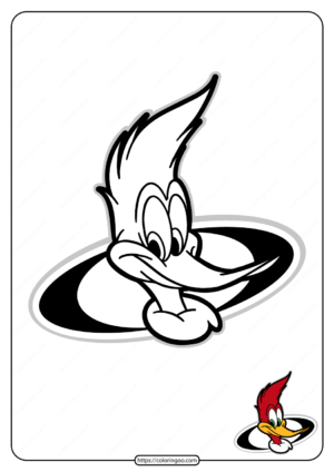 Free Printable Woody Woodpecker Coloring Pages 16