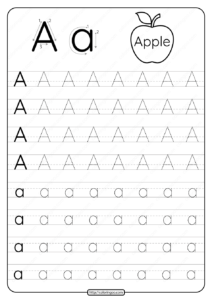 Printable Dotted Letter A Tracing Pdf Worksheet