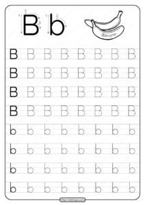 Printable Dotted Letter B Tracing Pdf Worksheet