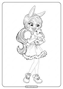 Printable Enchantimals Bree Bunny Twist Coloring Page