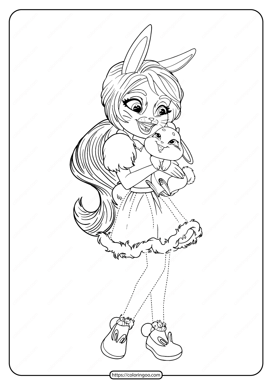 Printable Enchantimals Bree Bunny Twist Coloring Page