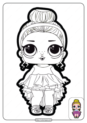 Printable Lol Doll Surprise Go to Party Coloring Page