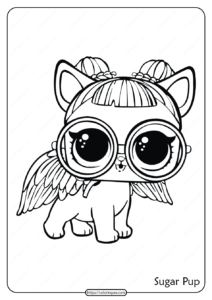 Printable LOL Doll Surprise Sugar Pup Coloring Page