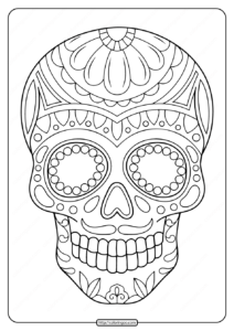 Printable Sugar Skull Pdf Coloring Pages 02