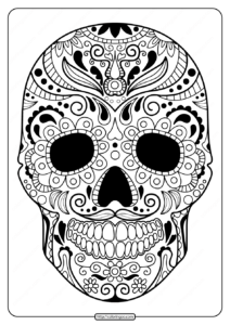 Printable Sugar Skull Pdf Coloring Pages 07