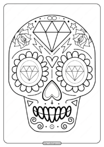 Printable Sugar Skull Pdf Coloring Pages 08
