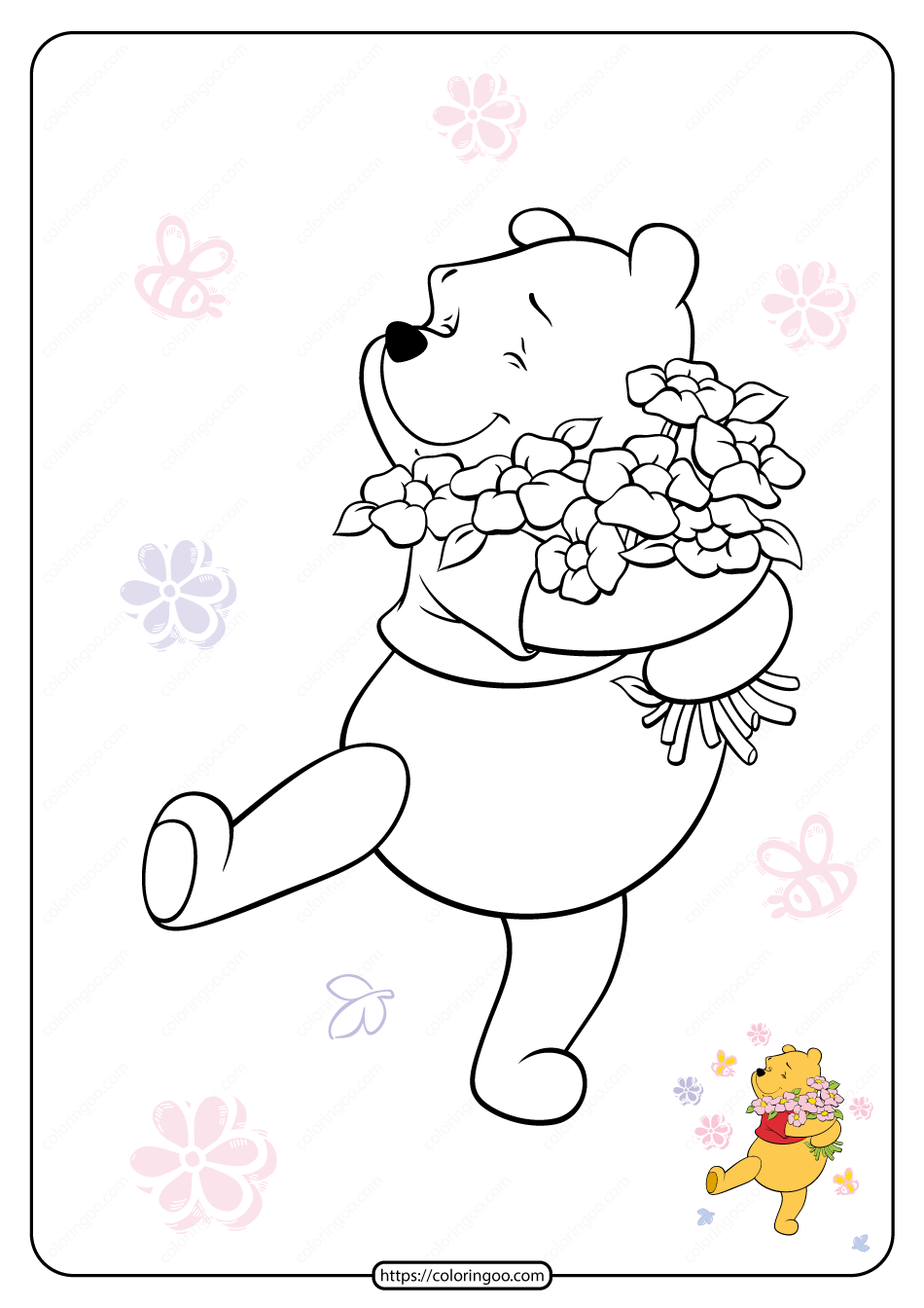 Printable Winnie the Pooh Pdf Coloring Pages 11