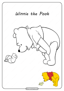 Printable Winnie the Pooh Pdf Coloring Pages 12
