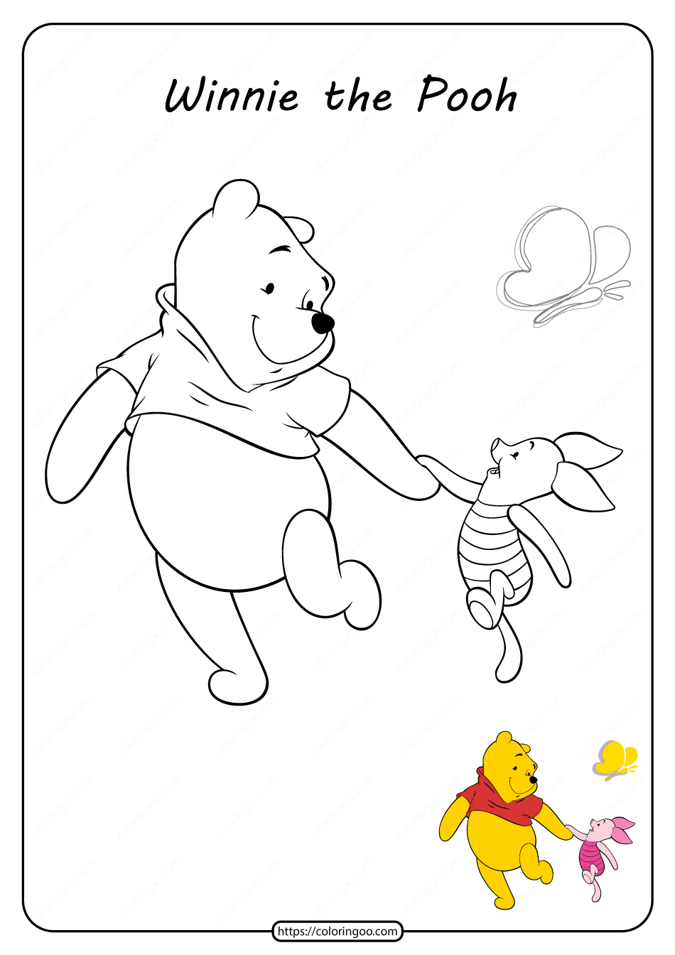 Printable Winnie the Pooh Pdf Coloring Pages 13