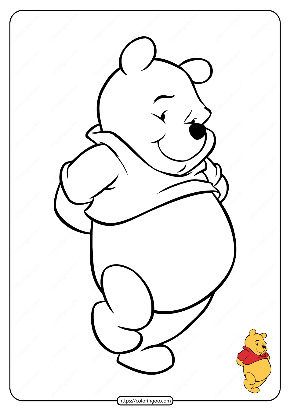 Printable Winnie the Pooh Pdf Coloring Pages 14