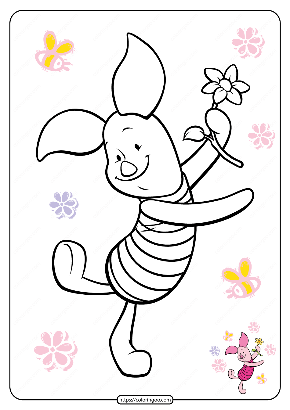 Printable Winnie the Pooh Pdf Coloring Pages 16