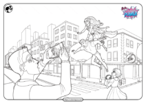 Barbie in Princess Power Coloring Pages for Kids
