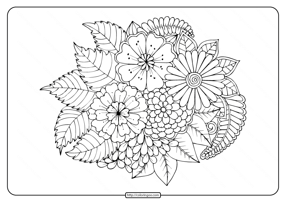 - Free Flowers Coloring Pages For Print