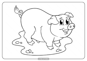 Free Pig Coloring Pages for Kids