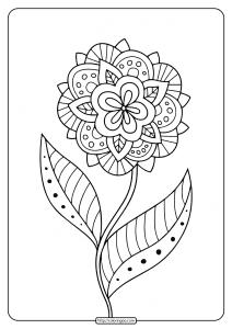 Free Printable Adult Floral Mandala Coloring Page 75