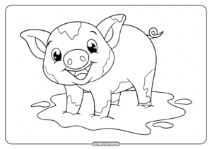 Free Printable Baby Pig Coloring Pages