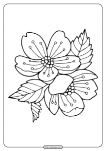 Free Printable Flower Wreath Coloring Pages