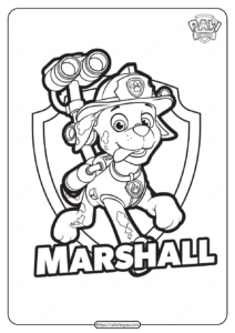 Free Printable Paw Patrol Marshall Coloring Pages