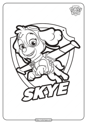 Free Printable Paw Patrol Skye Coloring Pages