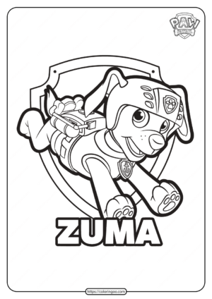Free Printable Paw Patrol Zuma Coloring Pages