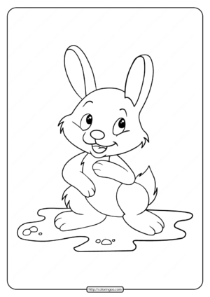 Free Printable Rabbit Coloring Page For Kids